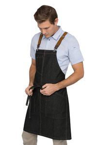 BERKELEY Black Denim Bib Apron