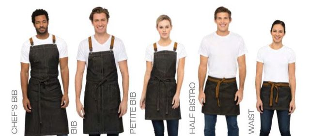 Berkeley Black Denim Urban Apron Collection