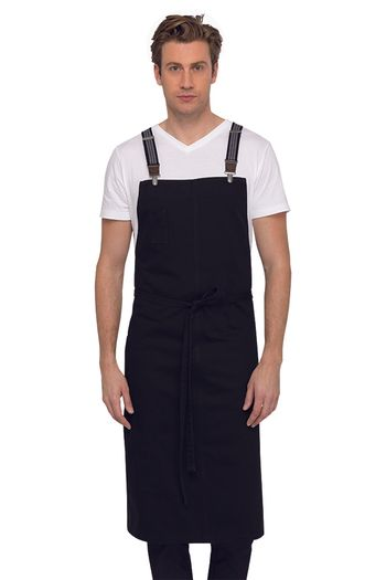 BERKELEY Jet Black Chef's Bib Apron