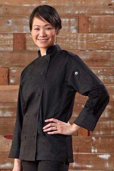 Lite SOFIA Black Chef Jacket for Women