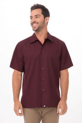 Burgundy WINE Cool VentMen's Server Shirt