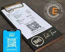 MINI Touchless Receipt Clipboard  Black Stain Birch