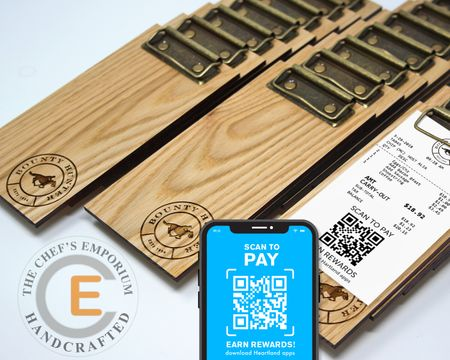 MINI Touchless Receipt Clipboard Oak