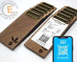 MINI Touchless Receipt Clipboard  Walnut