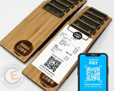 MINI Touchless Bamboo Receipt Clipboard