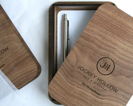 Walnut Check Presenter