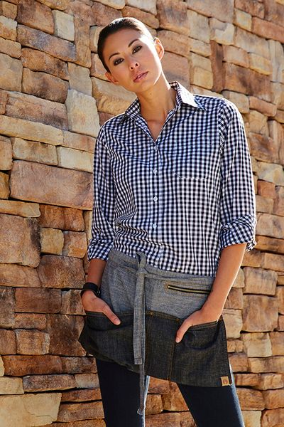 Womens Blue and White Gingham  Shirt