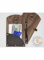 Wood and Leather Check Presenter