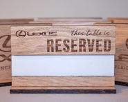 Table Reserved Signs