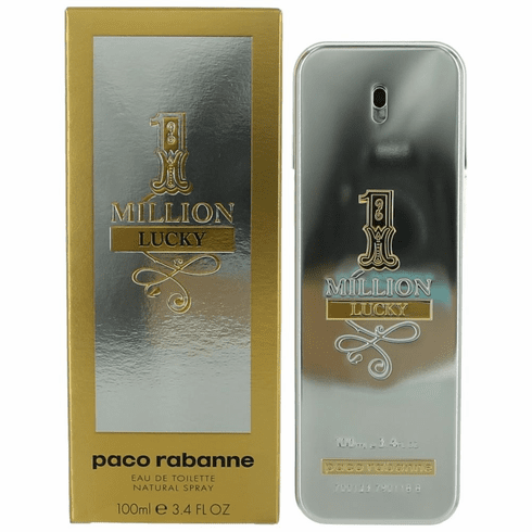 1 Million Lucky by Paco Rabanne, 3.4 oz Eau De Toilette Spray for Men