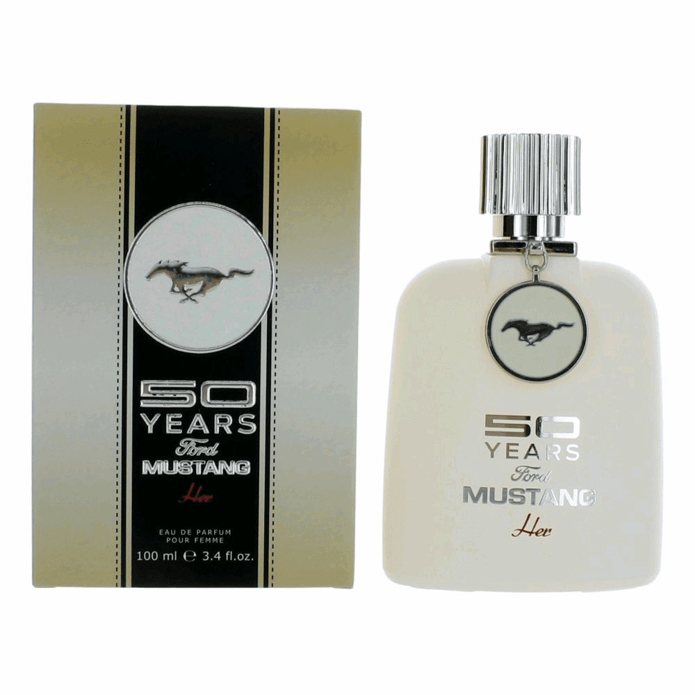 50 Years Ford Mustang Her by Mustang, 3.4 oz Eau De Parfum Spray for Women