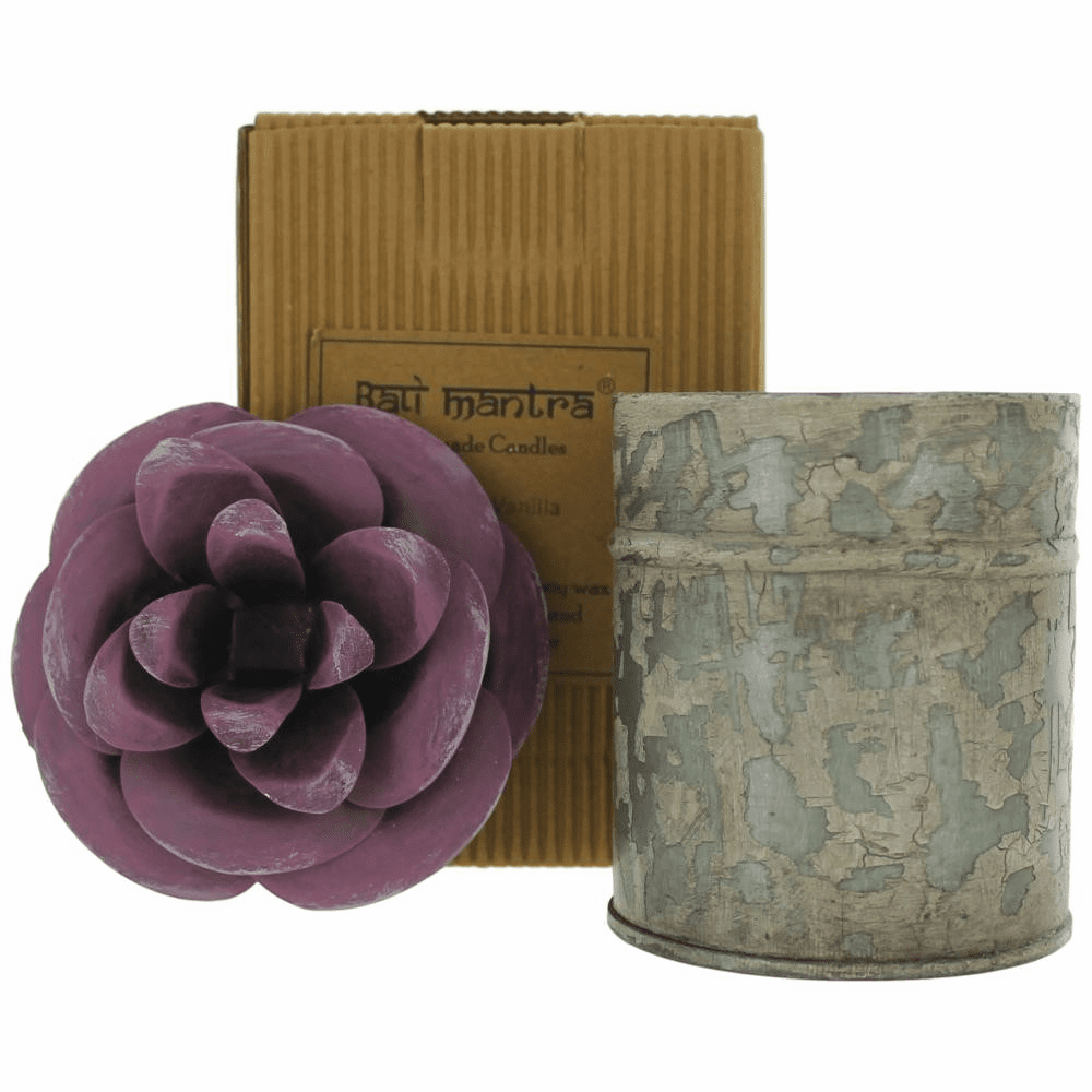 Bali Mantra Handmade Scented Candle In Camellia Tin - French Vanilla