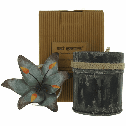 Bali Mantra Handmade Scented Candle In Waterlily Tin - Peach Grapefruit