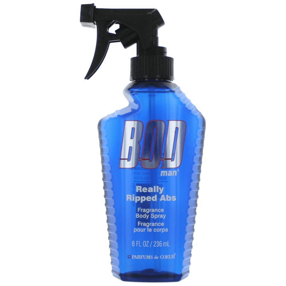 Bod Man Really Ripped Abs by Parfums De Coeur, 8 oz Frgrance Body Spray for Men