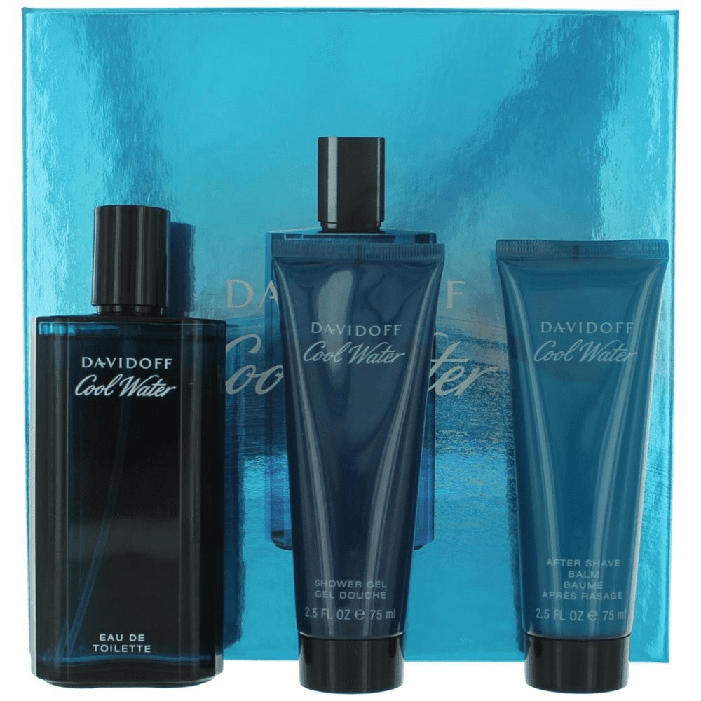 Cool Water by Davidoff, 3 Piece Gift Set for Men