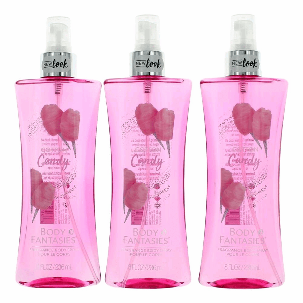 Cotton Candy by Body Fantasies, 3 Pack 8 oz Fragrance Body Spray for Women