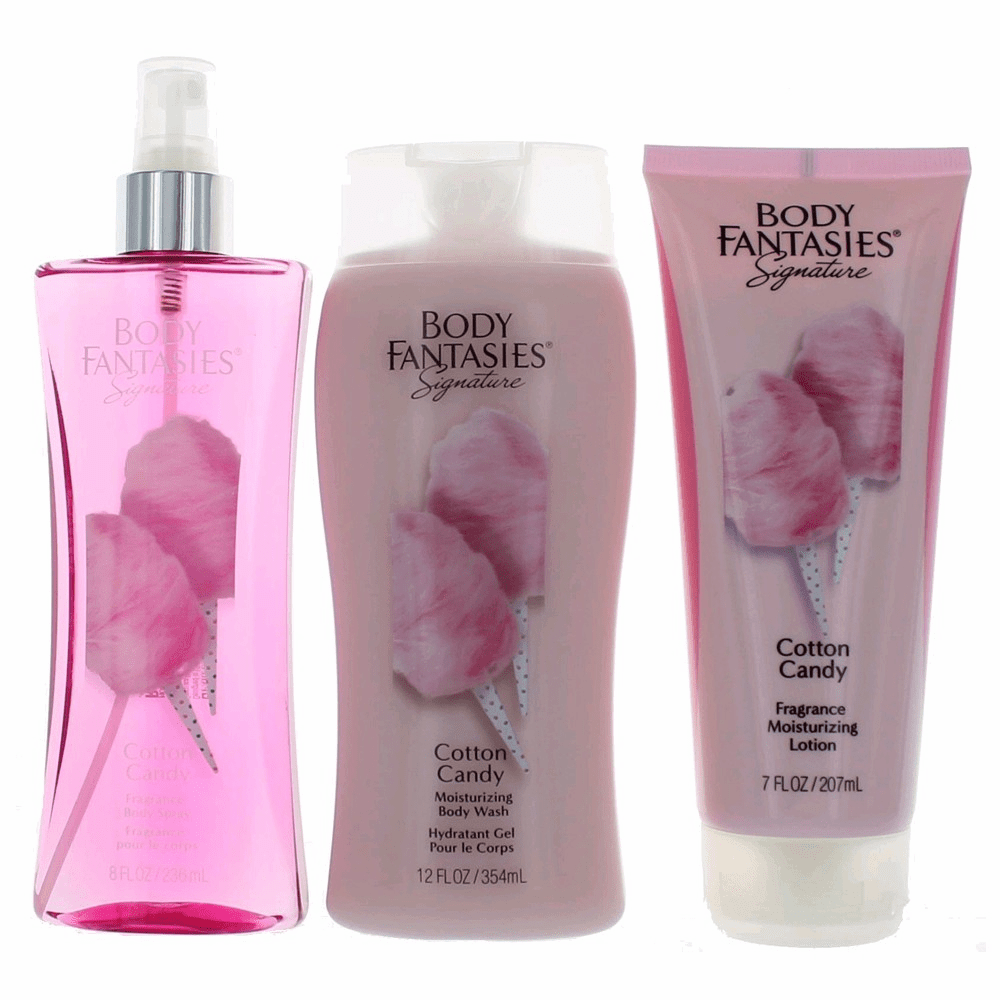 Cotton Candy by Body Fantasies, 3 Piece Set for Women