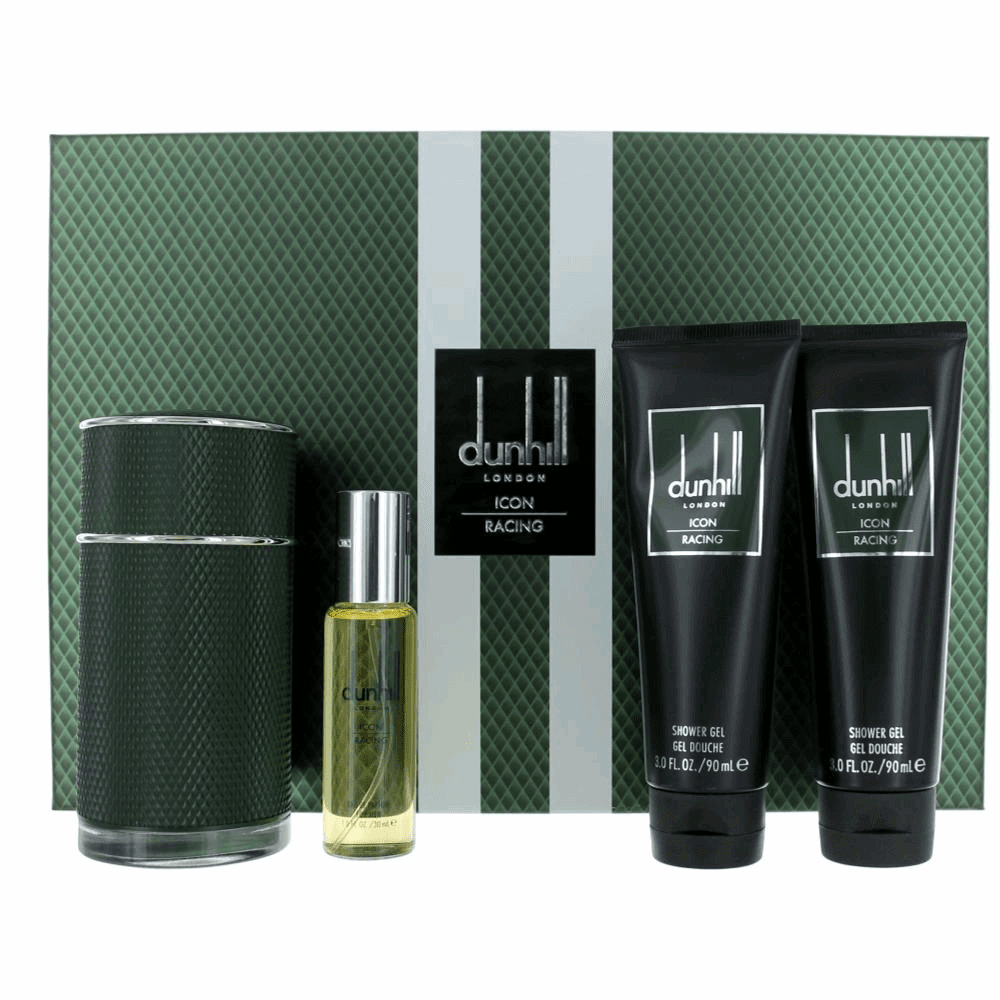 Dunhill Icon Racing by Alfred Dunhill, 4 Piece Gift Set for Men
