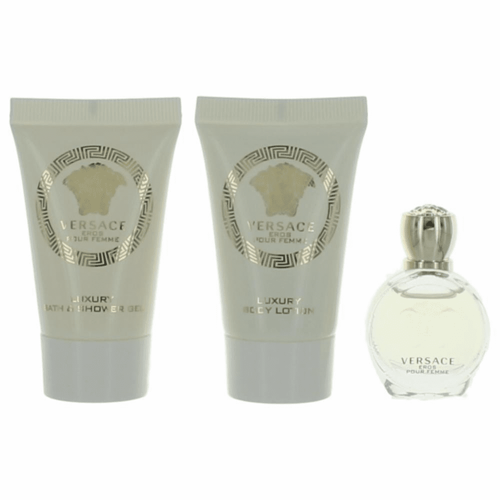 Eros Pour Femme by Versace, 3 Piece Mini Gift Set for Women