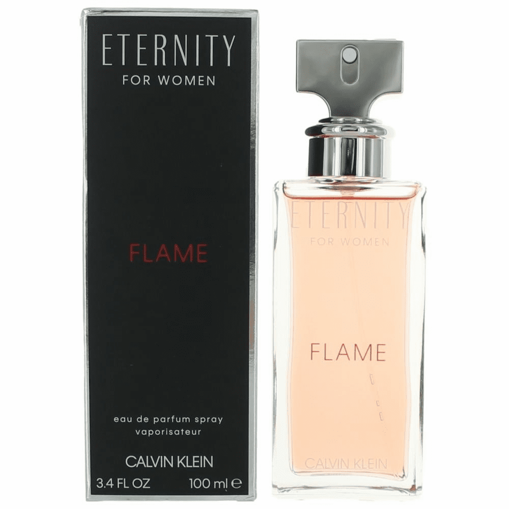Eternity Flame by Calvin Klein, 3.4 oz Eau De Parfum Spray for Women