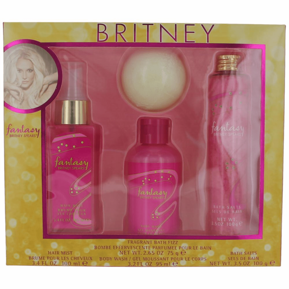 Fantasy by Britney Spears, 4 Piece Gift Set for Women