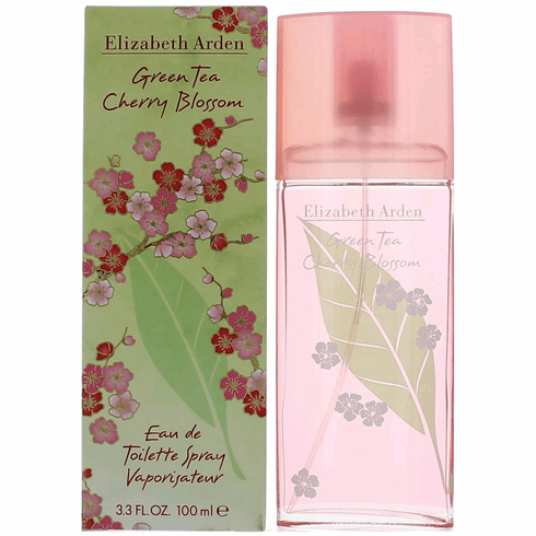 Green Tea Cherry Blossom by Elizabeth Arden, 3.3 oz Eau De Toilette Spray for Women