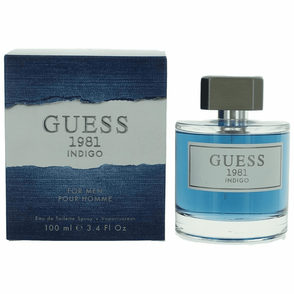 Guess 1981 Indigo by Guess, 3.4 oz Eau De Toilette Spray for Men