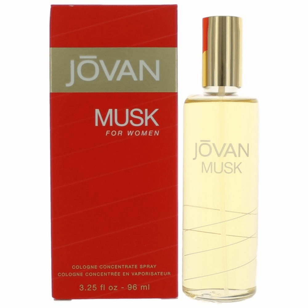 Jovan Musk by Coty, 3.25 oz Cologne Concentrate Spray for Women