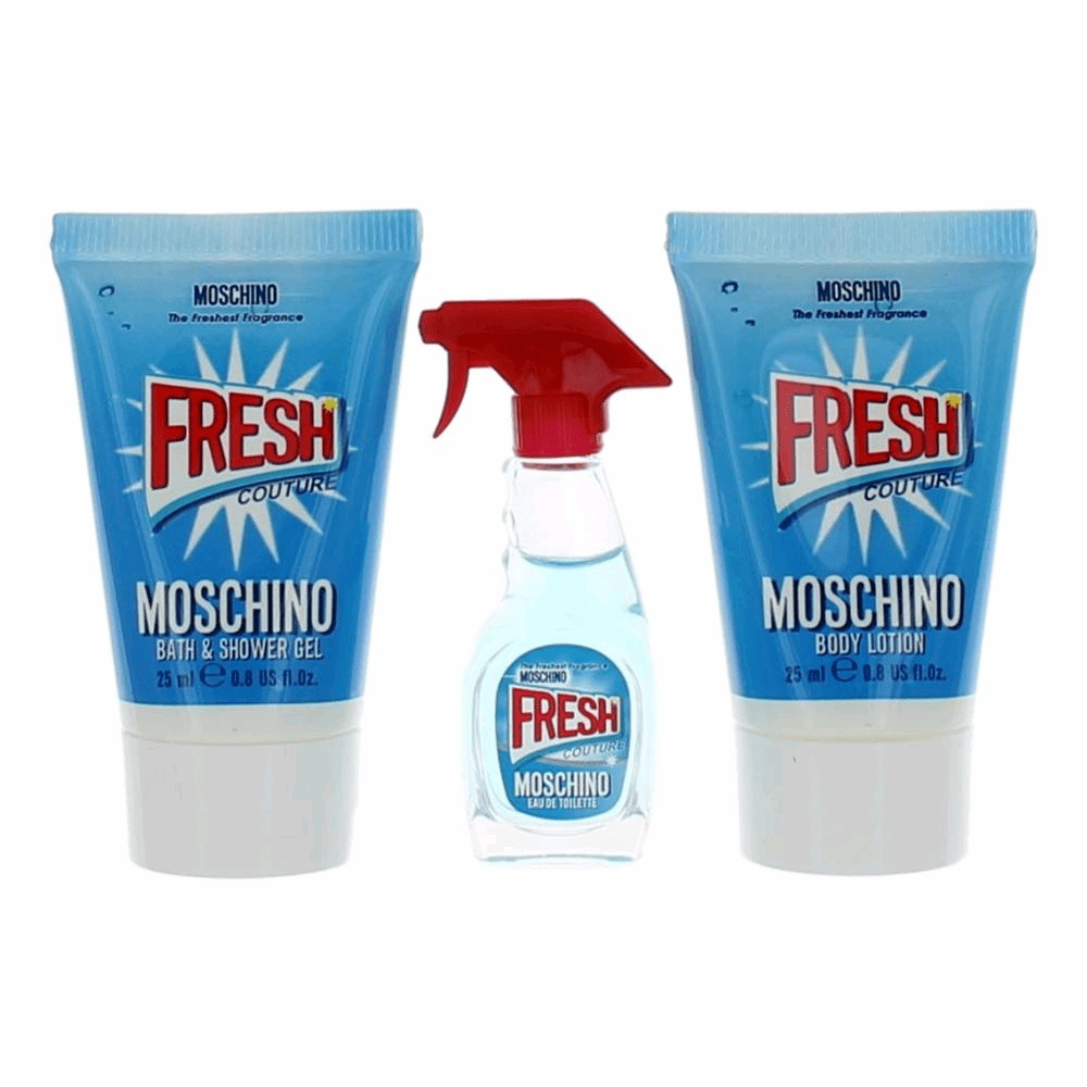 Moschino Fresh Couture by Moschino, 3 Piece Mini Gift Set for Women