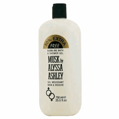 Musk by Alyssa Ashley, 25.5 oz Bubbling Bath & Shower Gel for Women