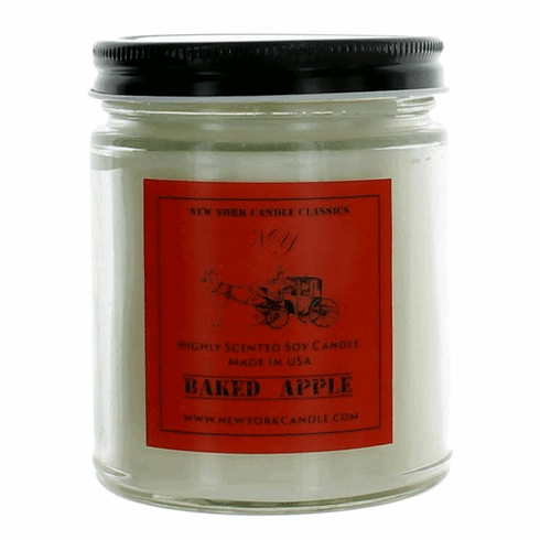 New York Candle 9 oz Highly Scented Soy Candle - Baked Apple