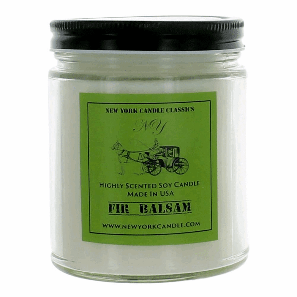 New York Candle 9 oz Highly Scented Soy Candle - Fir Balsam