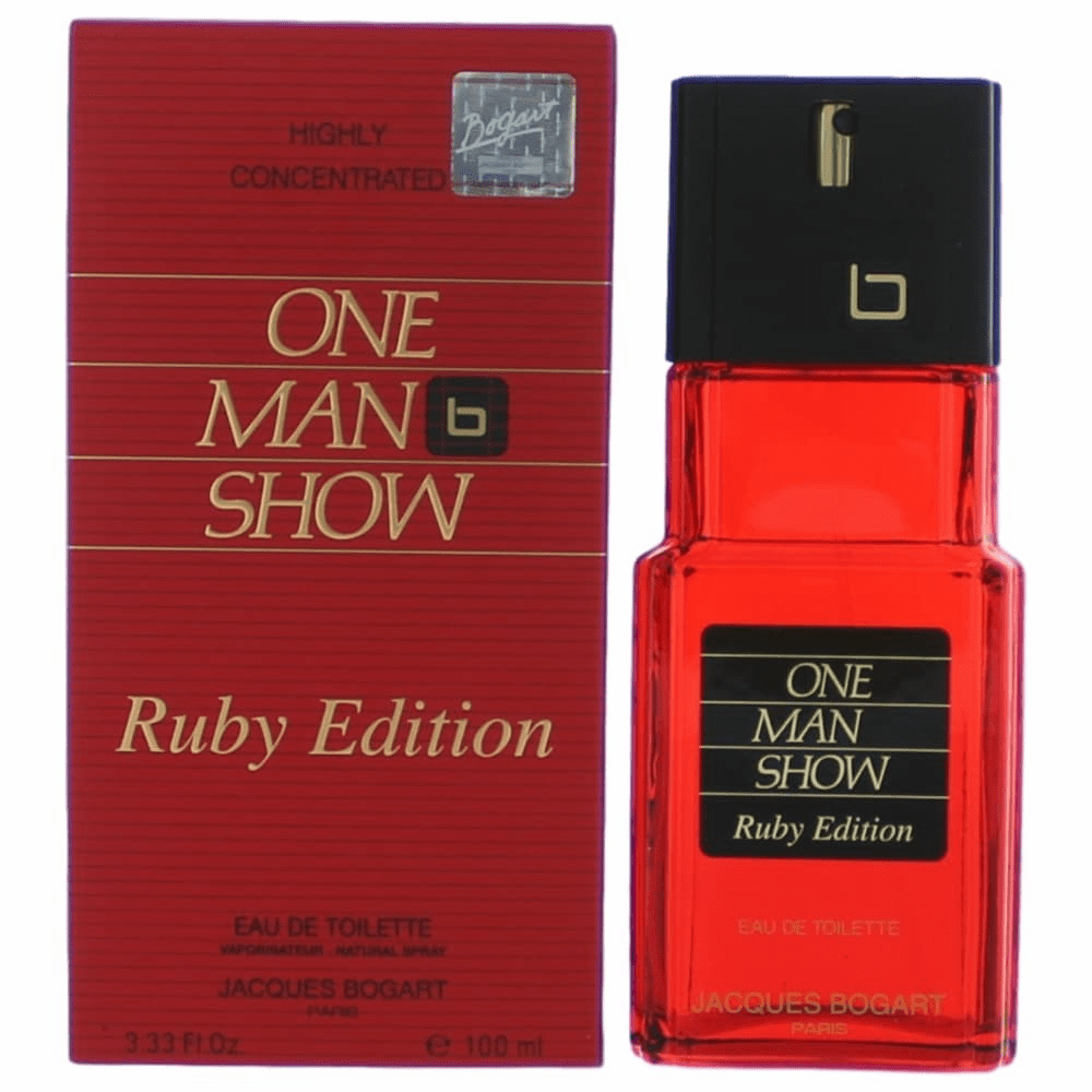 One Man Show Ruby Edition by Jacques Bogart, 3.3 oz Eau De Toilette Spray for Men