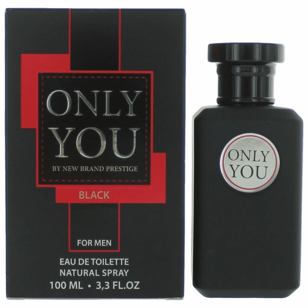 Only You Black by New Brand, 3.3 oz Eau De Toilette Spray for Men