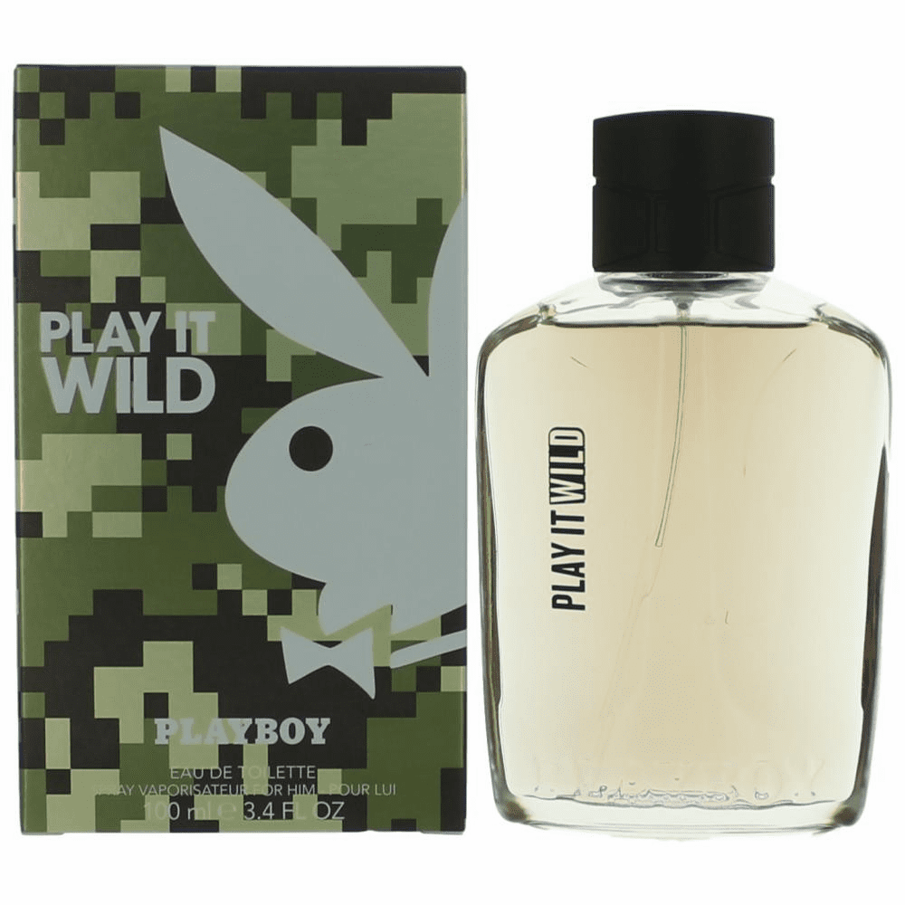 Playboy Play It Wild by Coty, 3.4 oz Eau De Toilette Spray for Men