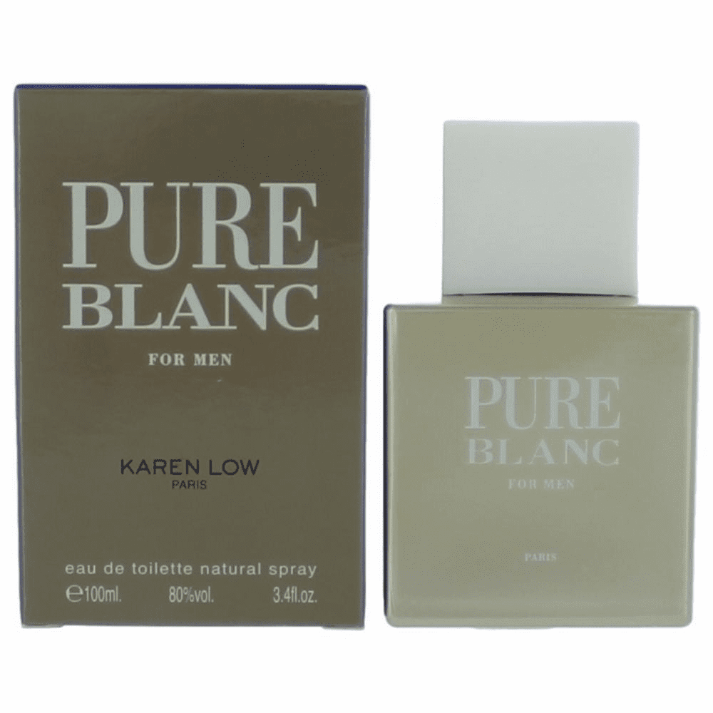 Pure Blanc by Karen Low, 3.4 oz Eau De Toilette Spray for Men