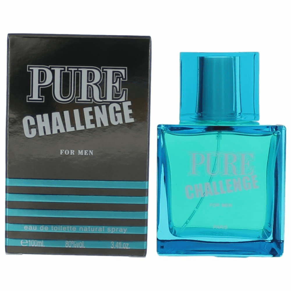 Pure Challenge by Karen Low, 3.4 oz Eau De Toilette Spray for Men
