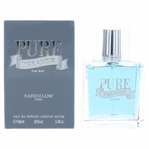 Pure Dreamer by Karen Low, 3.4 oz Eau De Toilette Spray for Men