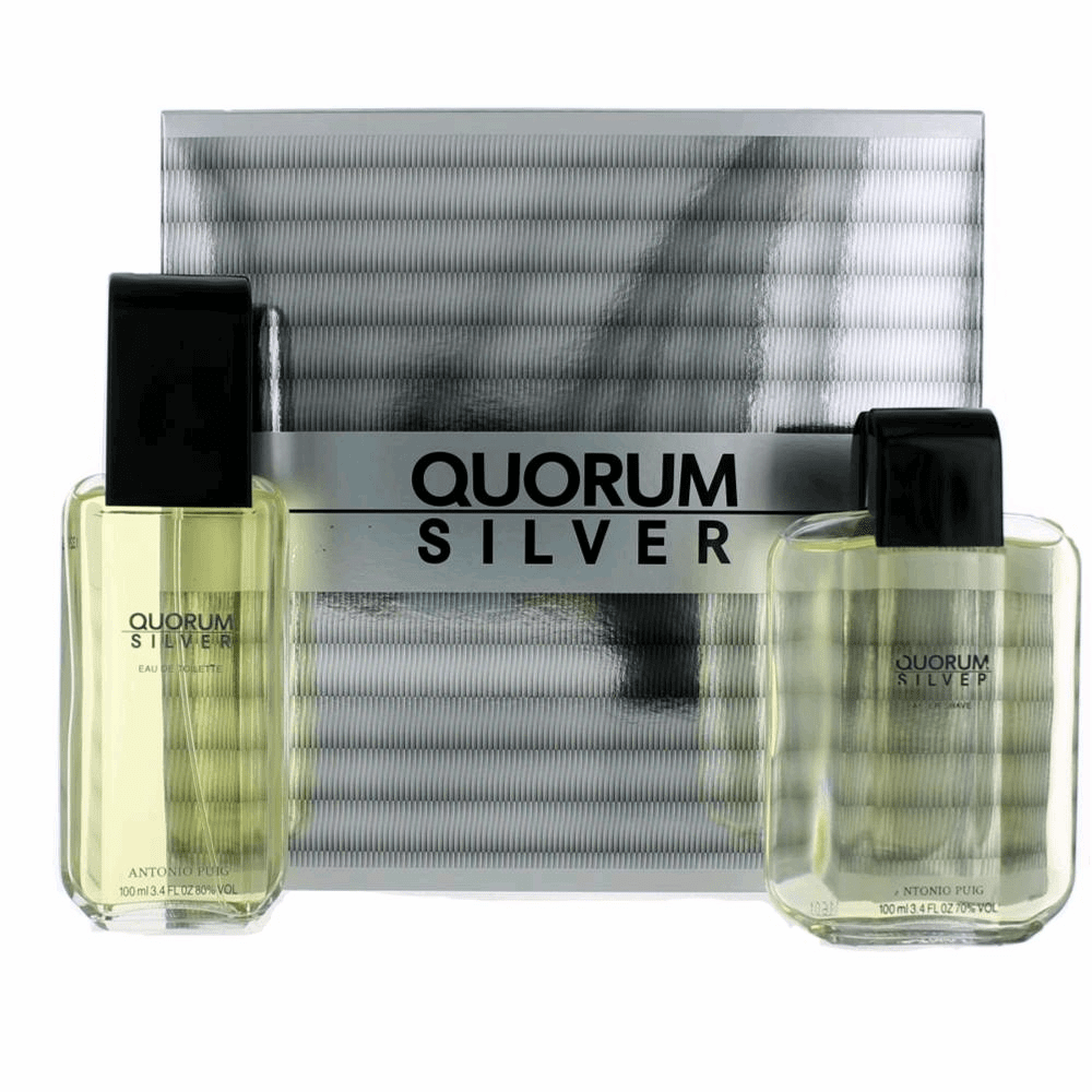 Quorum Silver by Puig, 2 Piece Gift Set for Men