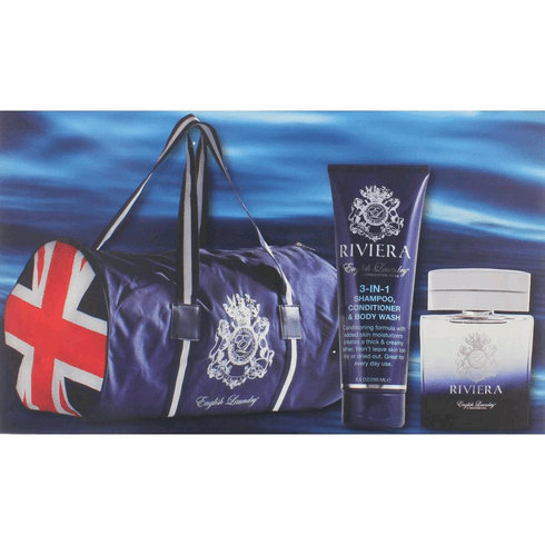 Riviera by English Laundry, 3 Piece Gift Set for Men with Bag