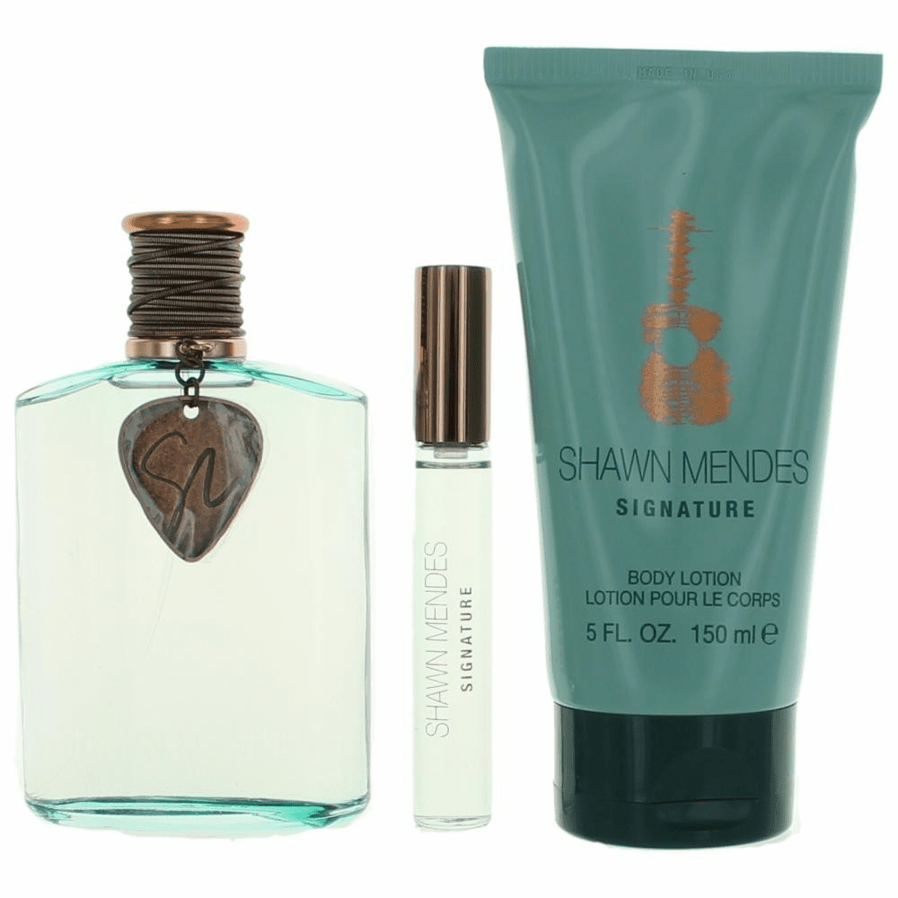 Shawn Mendes Signature by Shawn Mendes, 3 Piece Gift Set for Unisex