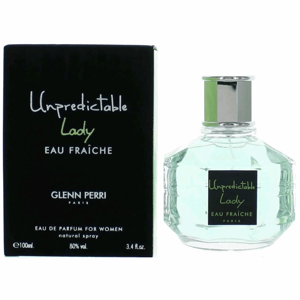 Unpredictable Lady Eau Fraiche by Glenn Perri, 3.4 oz Eau De Parfum Spray for Women