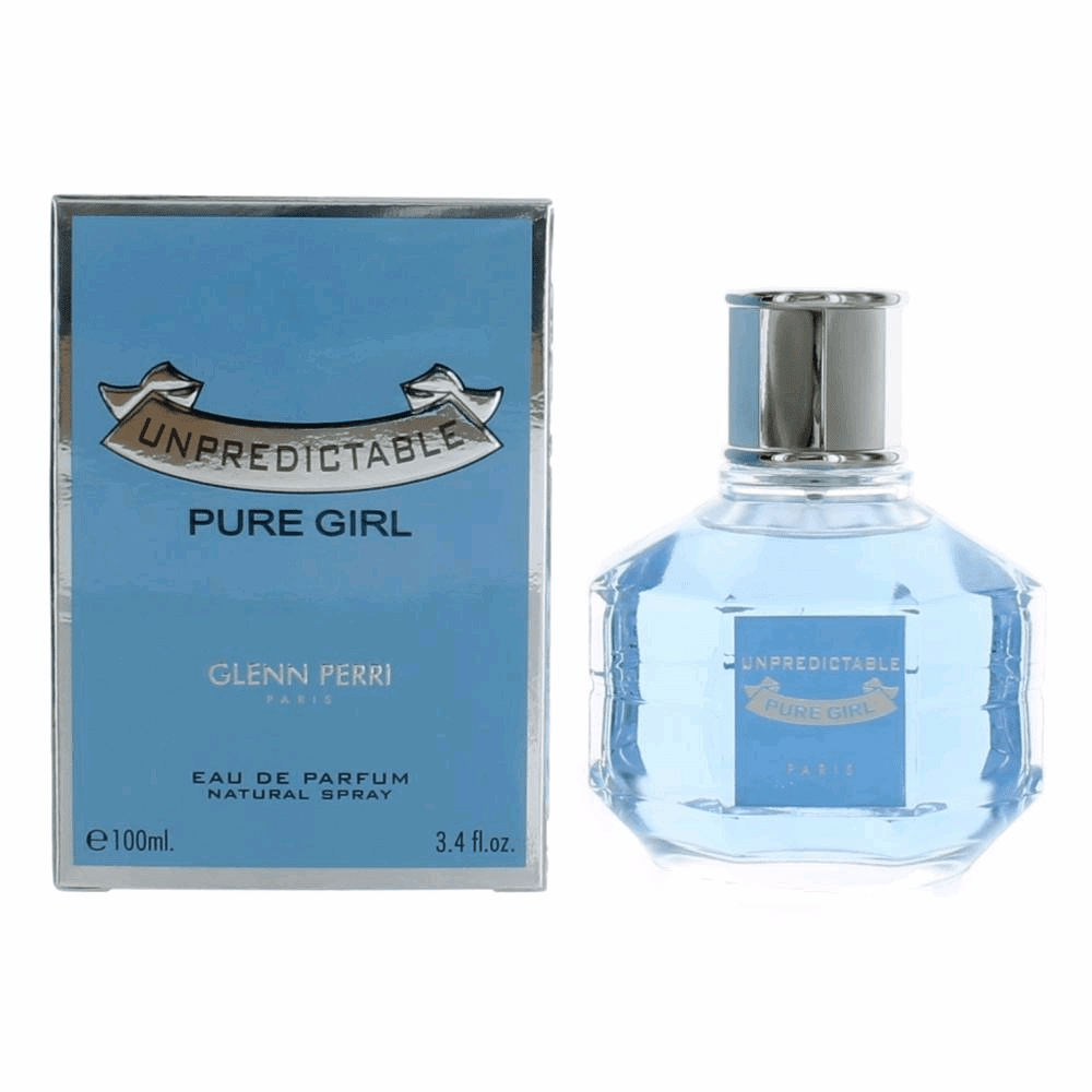Unpredictable Pure Girl by Glenn Perri, 3.4 oz Eau de Parfum Spray for Women