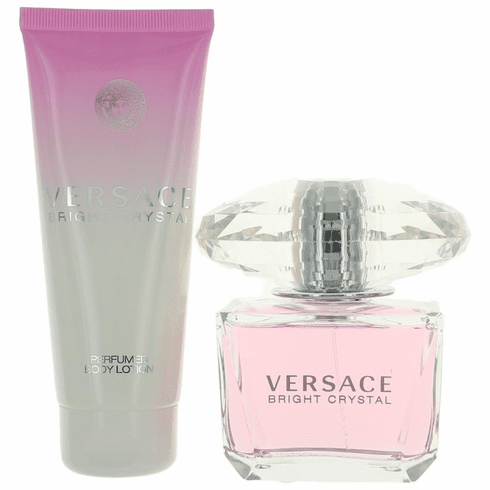 Versace Bright Crystal by Versace, 2 Piece Gift Set for Women