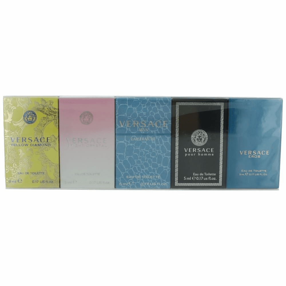 Versace by Versace, 5 Piece Mini Variety Set for Unisex