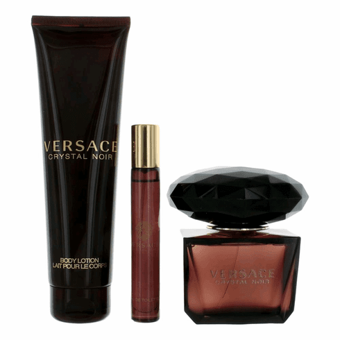 Versace Crystal Noir by Versace, 3 Piece Gift Set for Women