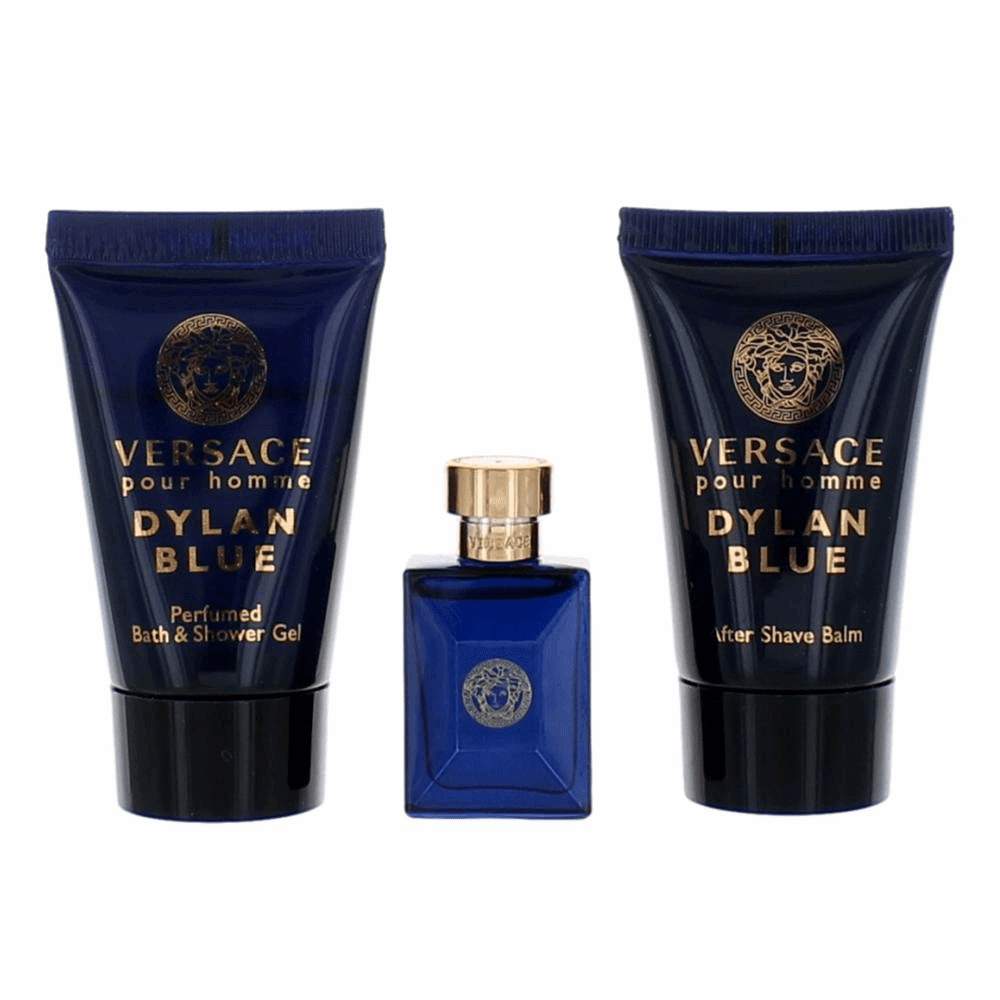 Versace Pour Homme Dylan Blue by Versace, 3 Piece Mini Gift Set for Men