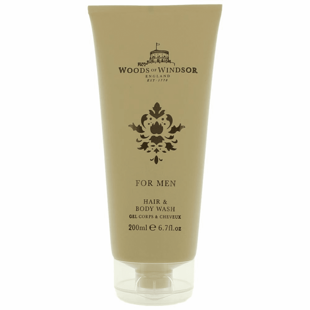 Woods Of Windsor by Woods Of Windsor, 6.7 oz Hair and Body Wash for Men