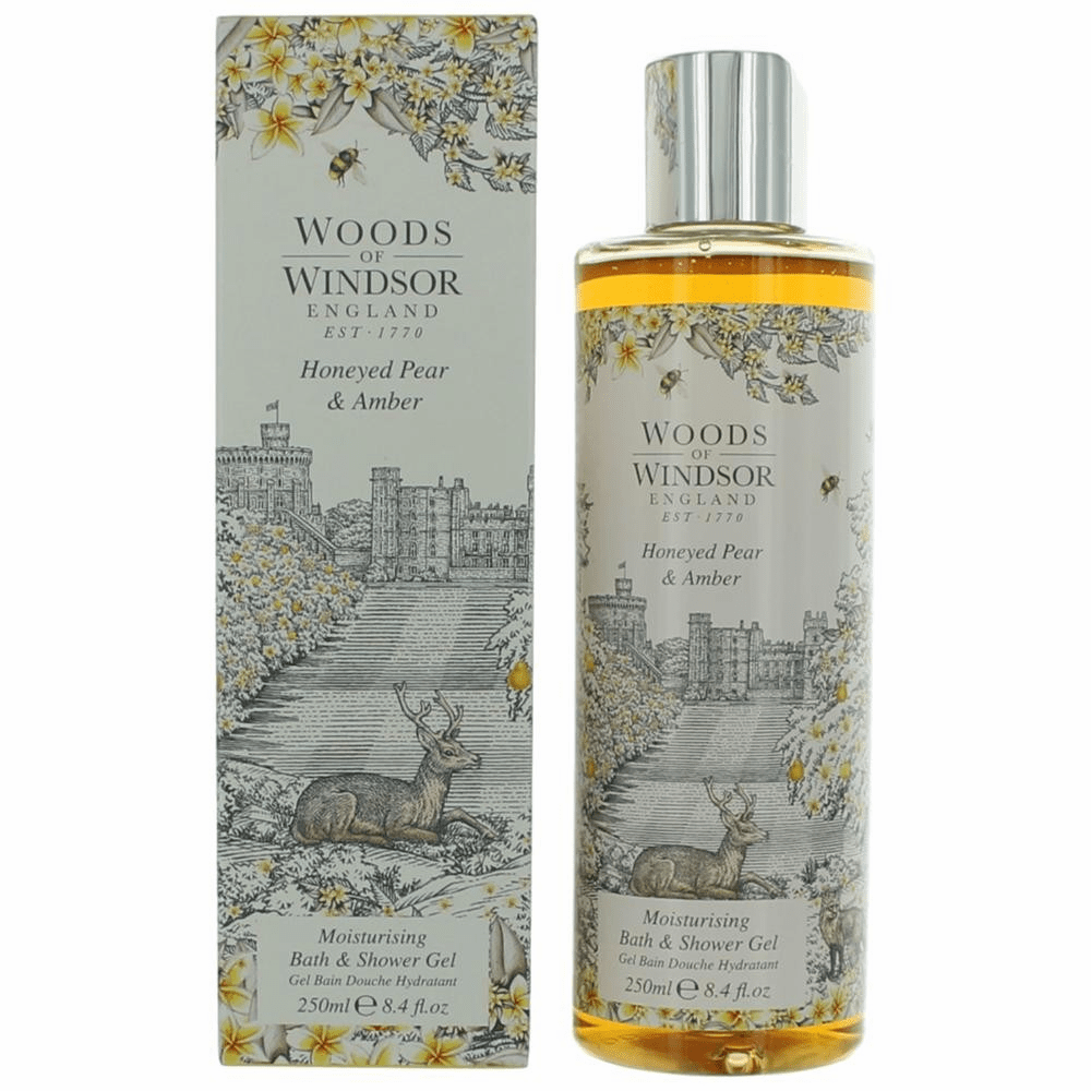 Woods Of Windsor Honeyed Pear & Amber by Woods Of Windsor, 8.4 oz Moisturising Bath and Shower Gel for Women