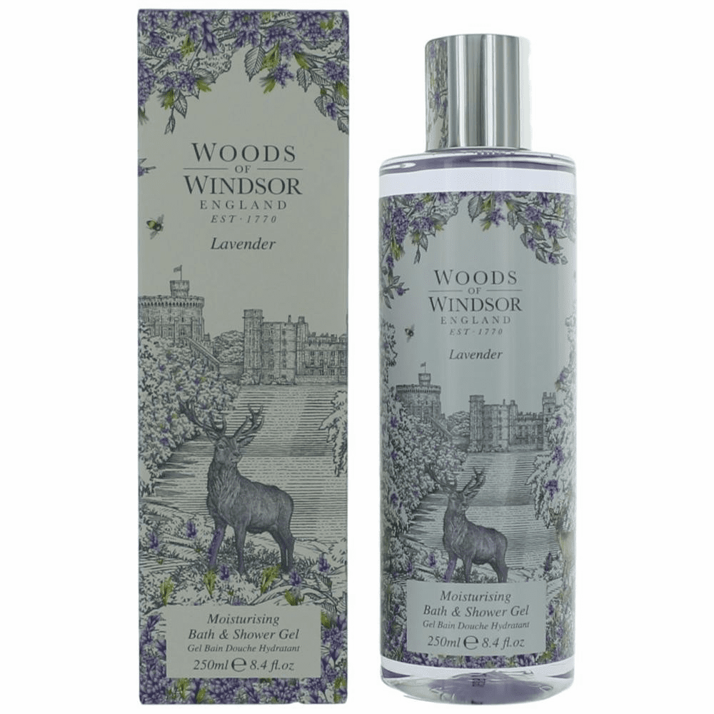 Woods of Windsor Lavender by Wow, 8.4 oz Moisturising Bath and Shower Gel  for Women